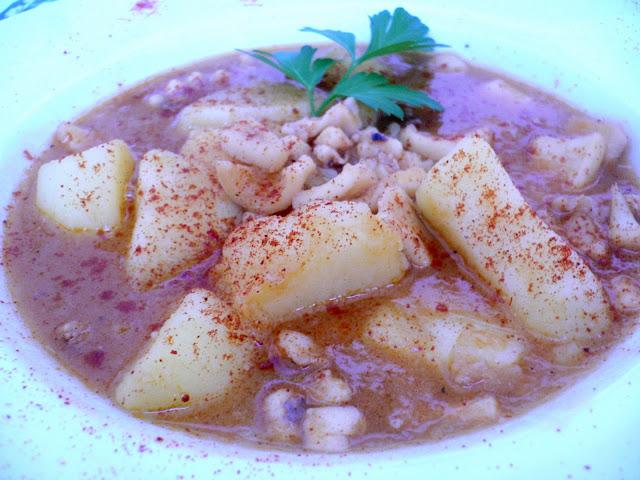 patatas con calamares thermomix