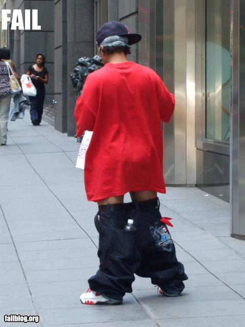 Stupidity baggy pants