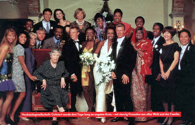 David Bowie and Iman get married