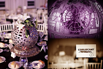 Blogger of the bride amazing star wars wedding - Decoration table theme star wars ...