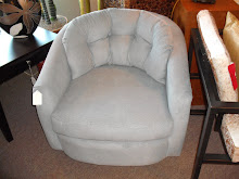 Small Blue Swivel Chair