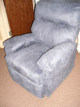 Best Chair Blue Micro Fiber Recliner