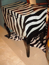 Painted Zebra Chest In Stock