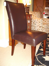 Leather Side Chair In Stock