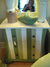 Green Painted Chest