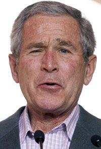 George W. Bush fue sometido a una colonoscopía