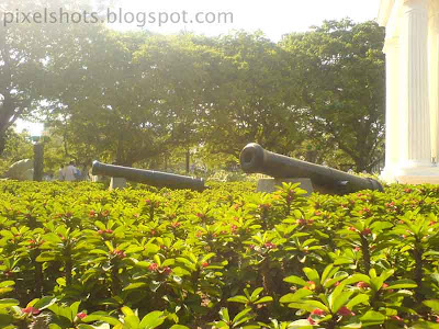 canons in the garden photographs,from a park in pondycherry tamilnadu india,recreation parks,cactus-plant-flowers and cannons