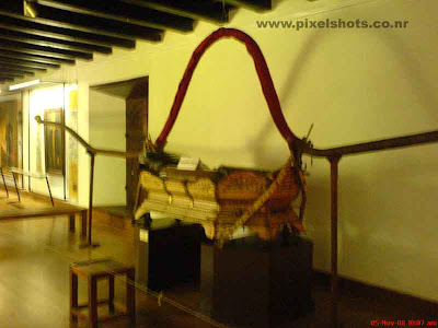 The Pallak made of ivory used by rajas of cochin as a means of transport photograph from the mattancherry old dutch palace museum