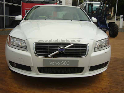 volvos latest car s80 sedan diaplayed in volvos automobile and technology show in ocean race village cochin