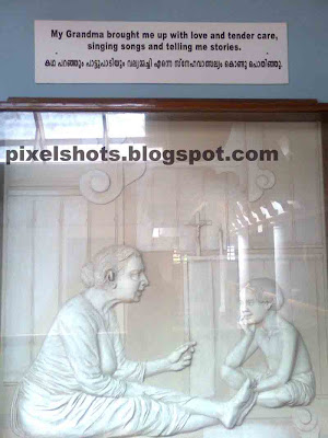 alphonsamma,little-alphonsa-with-grandmother,portrait-in-museum-showing-alphonsas-life,St alphonsa-and-grandmother
