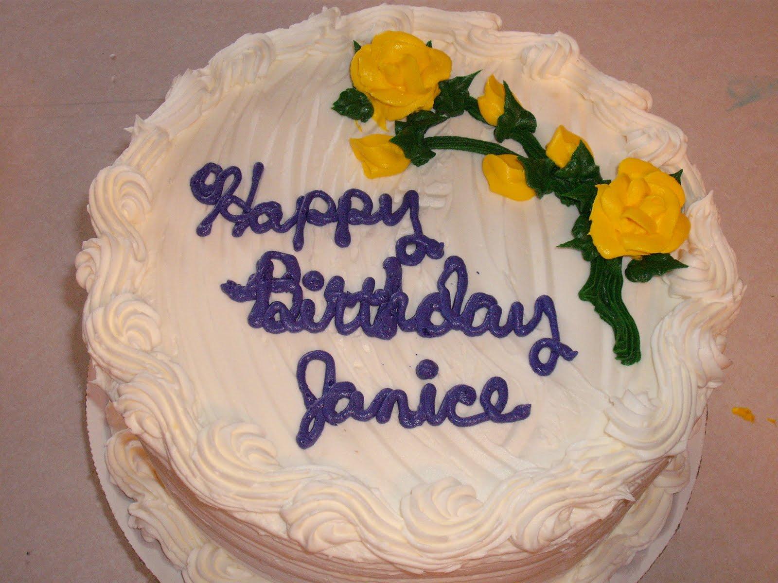 Janice Birthday Cake