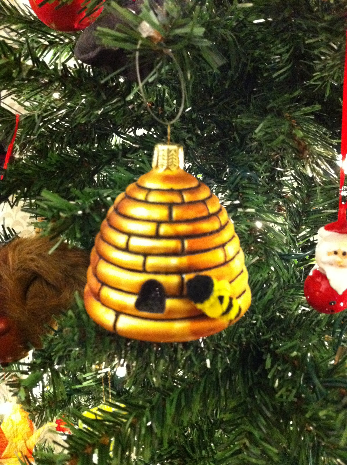 Beehive ornament - The Hand Carved Lobsterman A Souvenir From Our Honeymoon In Maine And Who Just Happens To Be The Most Expensive Ornament We Own