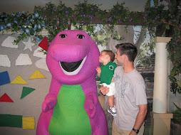 Kissing Barney!!!!