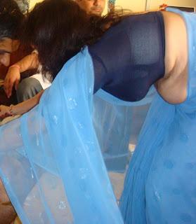 Real Life Saree Navel