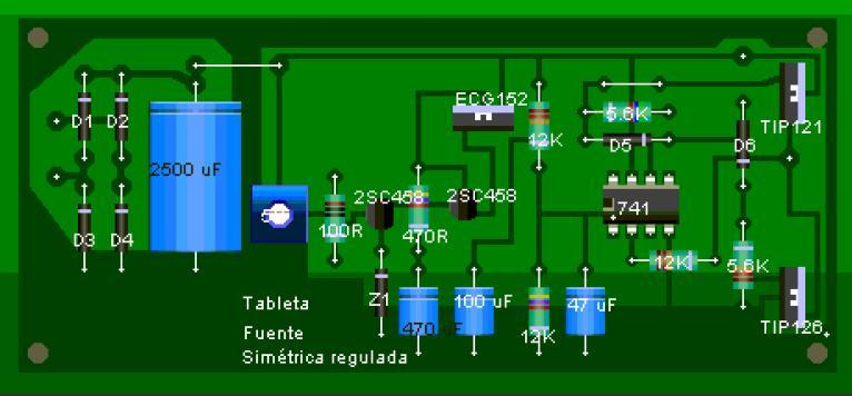Circuito Impreso De Amplificador De 3000w : Afición electrónica fuente regulada