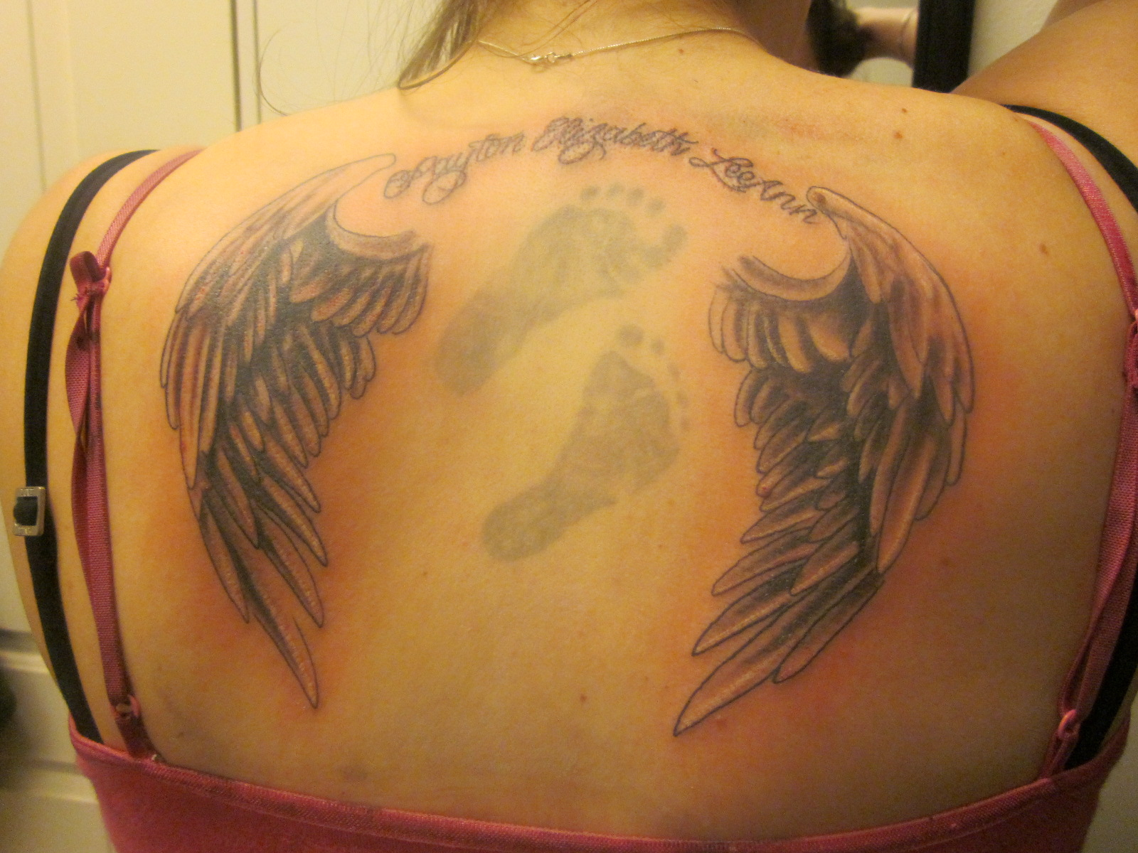 Ангел на лопатке тату фото