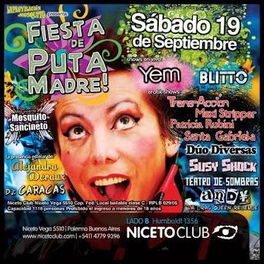 """Afiche de """"Fiesta de Puta Madre"""""""