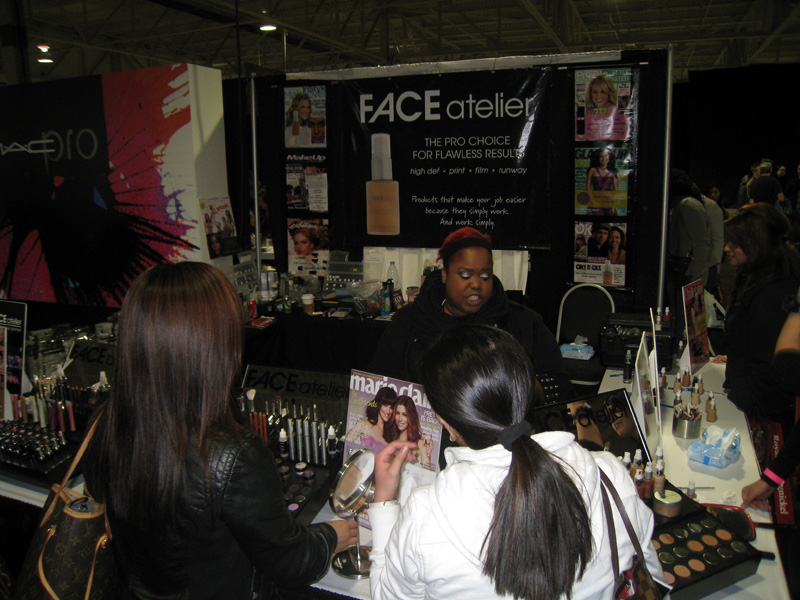 The Face atelier booth was our first stop. I was so happy to see my girl,