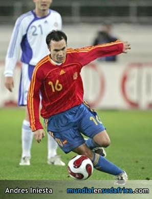 Andres Iniesta el cerebro de la Seleccion de España - Figuras del Mundial Sudafrica 2010