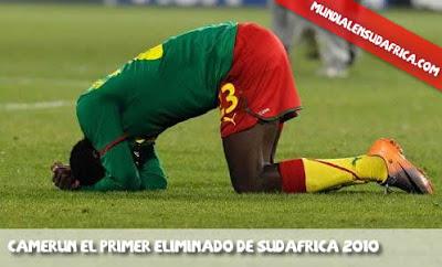 Camerun eliminado del Mundial 2010