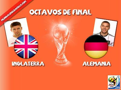 Partido Inglaterra vs Alemania Octavos de Final