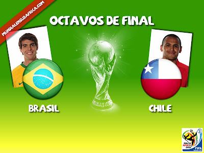 Partido Brasil vs Chile Octavos de Final