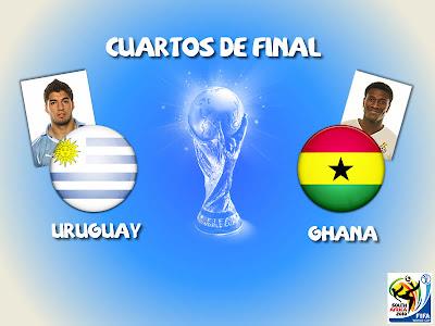 Partido Uruguay vs Ghana Mundial 2010
