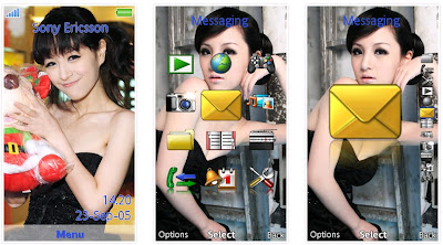 「魔術甜心」黃心琳SonyEricsson手機主題for Aino﹝240x432﹞