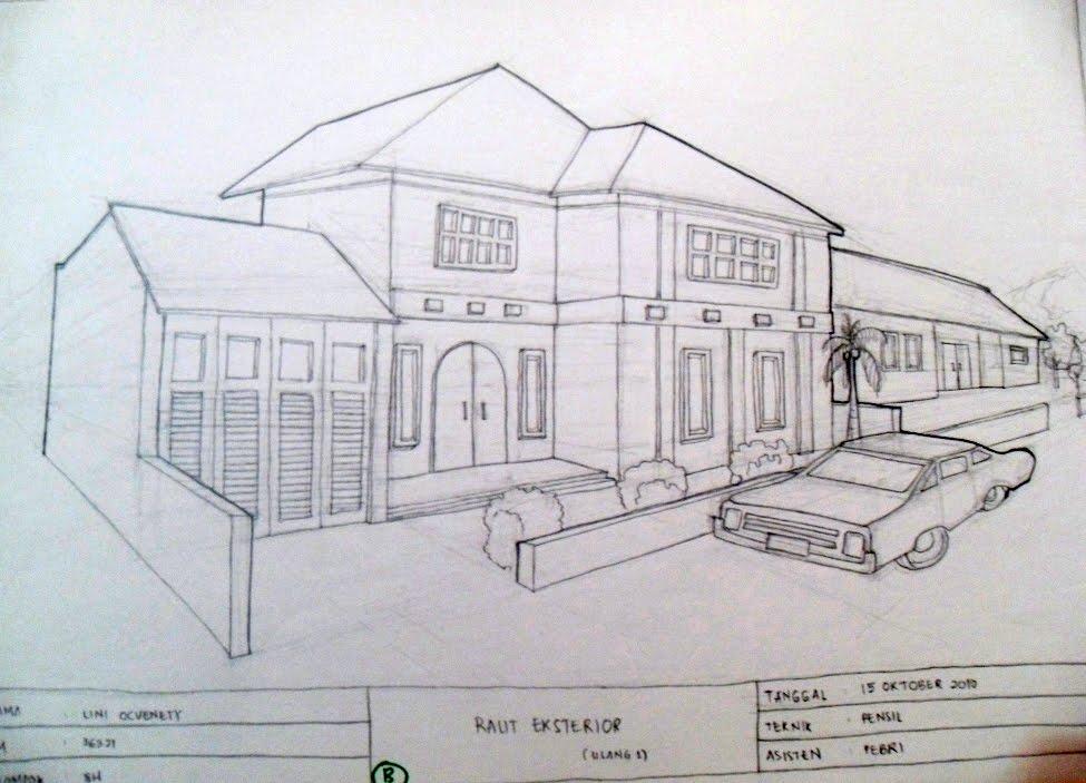 gambar sketsa rumah yola gulali