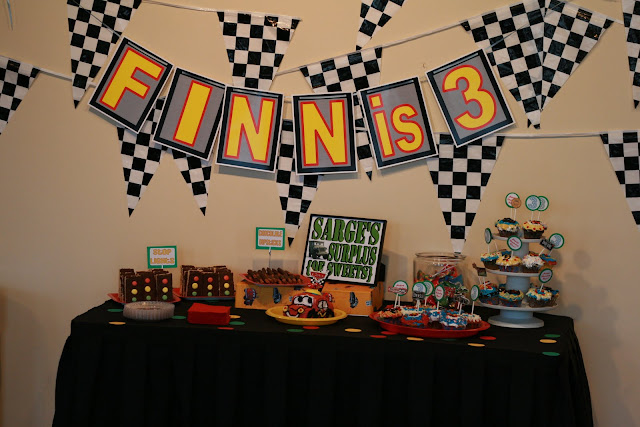 Disney Cars Birthday Party menu