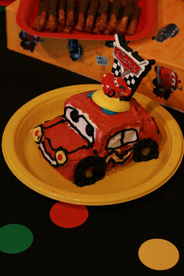 Disney Cars Birthday Party smash cake