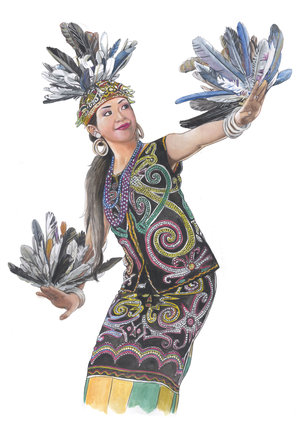 When Dayak people Dancing