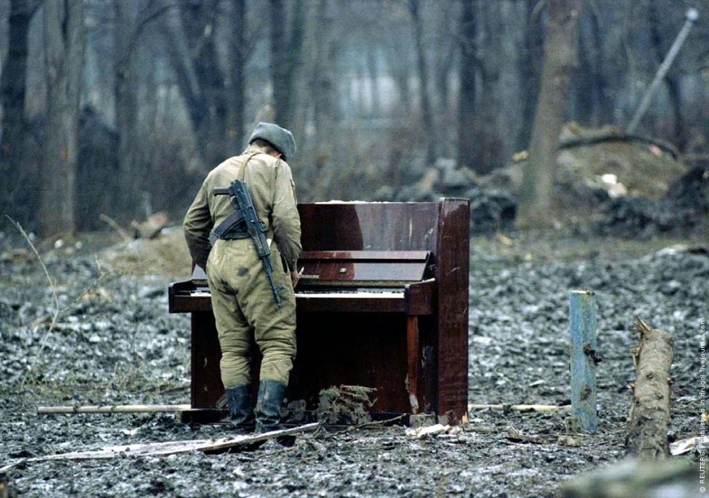 Soldier with Piano