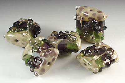 Sage-Amethyst Nugget Bead Set