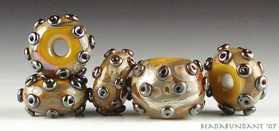 Browns and Metallics Set Lampworked Beads