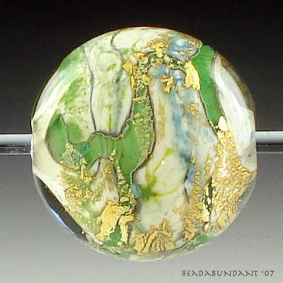 Organic Encased Focal Lampworked Bead
