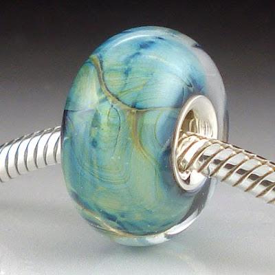 Blue and Green Pandora Bead