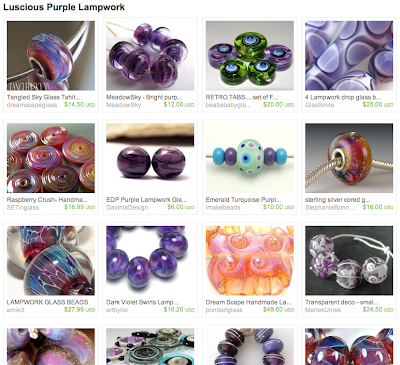 Purple Lampwork Treasury