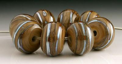 Effetre Dark Fossil Organic Beads