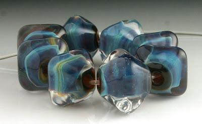 Luna lampwork beads by beadabundant