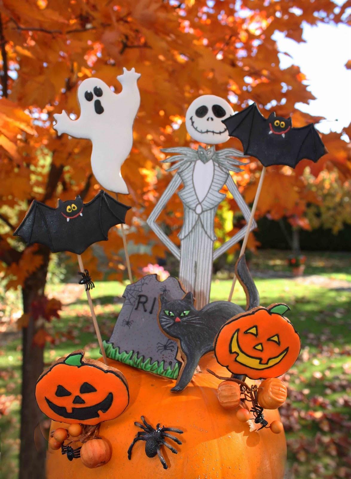 Cuki chic galletas decoradas for Centros de mesa para halloween