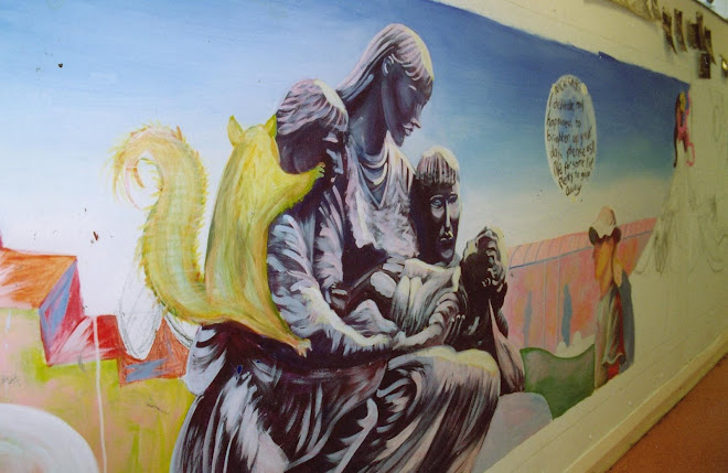 Statue painting from Mural