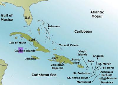 Mapa - Karibske more