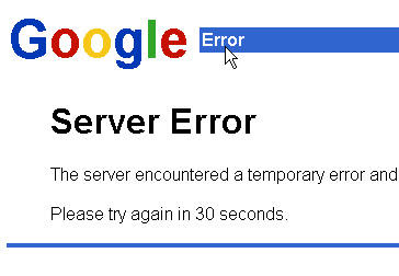 Google Server Error - Blogger.com