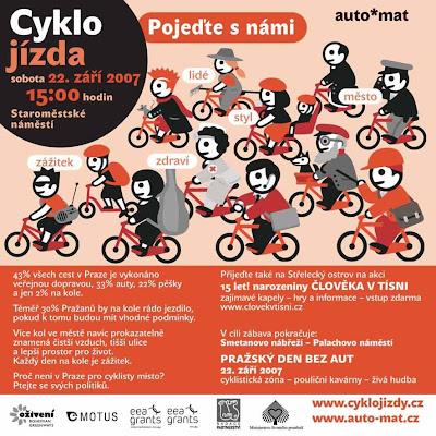 Velka podzimni cyklojizda Praha - Den bez aut