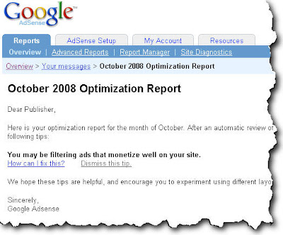 Google Adsense Optimization Report