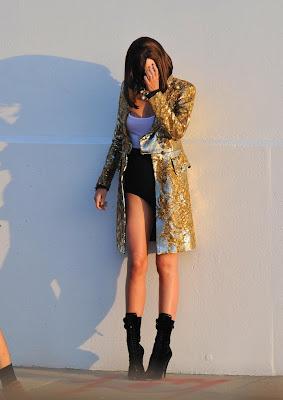 Miranda Kerr ,Elegant Classy Gold Robe Fashion