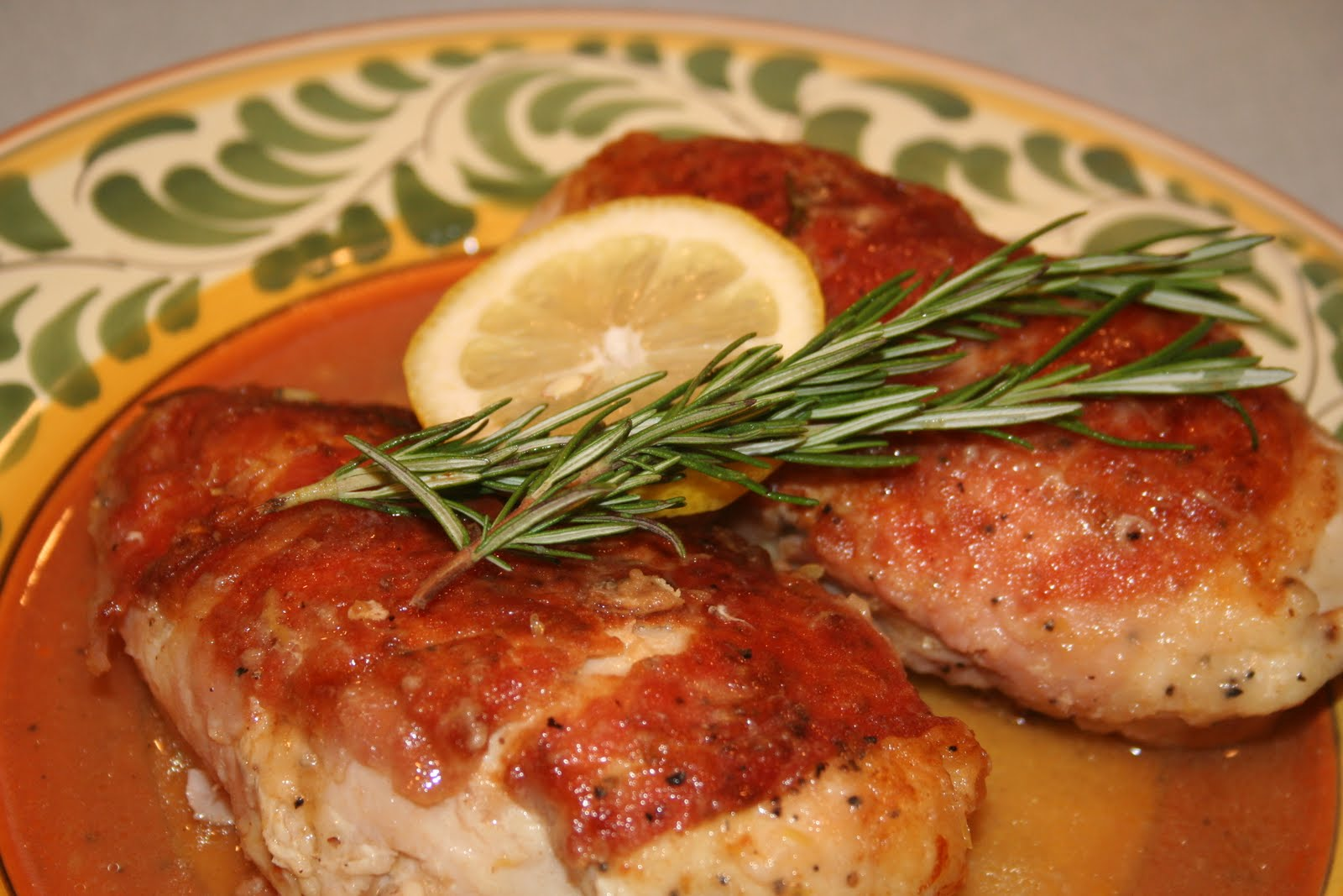 ... and Tyler Florence's Pan Roasted Chicken with Prosciutto and Lemon
