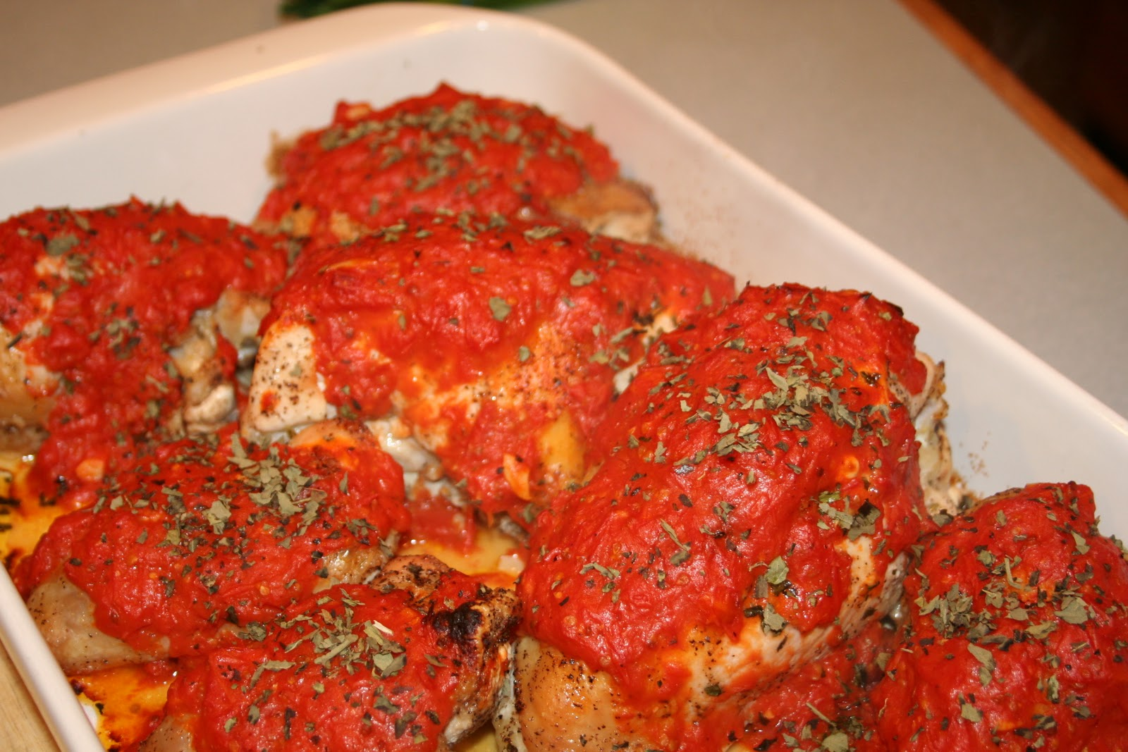 COOK WITH SUSAN: Baked Chicken with Roasted Tomato Sauce