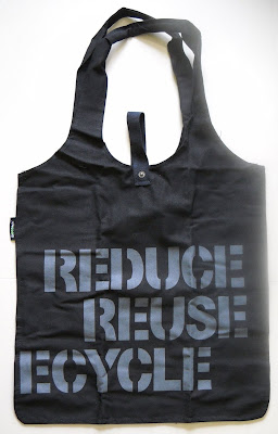 REDUCE REUSE RECYCLE cotton shopping bag